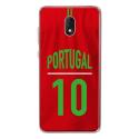 TPU0LENNY5MAILLOTPORTUGAL - Coque souple pour Wiko Lenny 5 avec impression Motifs Maillot de Football Portugal