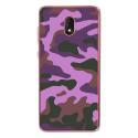 TPU0LENNY5MILITAIREROSE - Coque souple pour Wiko Lenny 5 avec impression Motifs Camouflage militaire rose
