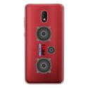 TPU0LENNY5MP3 - Coque souple pour Wiko Lenny 5 avec impression Motifs lecteur MP3