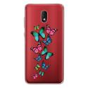 TPU0LENNY5PAPILLONS - Coque souple pour Wiko Lenny 5 avec impression Motifs papillons colorés