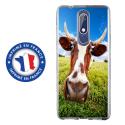TPU0NOKIA51VACHE - Coque souple pour Nokia 5-1 avec impression Motifs vache