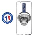 TPU0NOKIA51VIEUSINGECASQ - Coque souple pour Nokia 5-1 avec impression Motifs singe avec casque