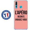 TPU0PSMART19APEROROSE - Coque souple pour Huawei P Smart (2019) avec impression Motifs l'apéro recrute rose