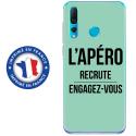 TPU0PSMART19APEROTURQUOISE - Coque souple pour Huawei P Smart (2019) avec impression Motifs l'apéro recrute turquoise