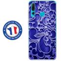 TPU0PSMART19ARABESQUEBLEU - Coque souple pour Huawei P Smart (2019) avec impression Motifs arabesque bleu