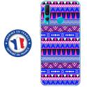 TPU0PSMART19AZTEQUEBLEUVIO - Coque souple pour Huawei P Smart (2019) avec impression Motifs aztèque bleu et violet