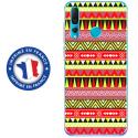 TPU0PSMART19AZTEQUEJAUROU - Coque souple pour Huawei P Smart (2019) avec impression Motifs aztèque jaune et rouge