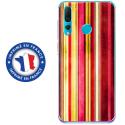 TPU0PSMART19BANDESVINT2 - Coque souple pour Huawei P Smart (2019) avec impression Motifs bandes effets vintages 2