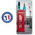TPU0PSMART19CABINEUK - Coque souple pour Huawei P Smart (2019) avec impression Motifs cabine téléphonique UK rouge