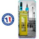 TPU0PSMART19CABINEUKJAUNE - Coque souple pour Huawei P Smart (2019) avec impression Motifs cabine téléphonique UK jaune