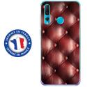 TPU0PSMART19CAPITON - Coque souple pour Huawei P Smart (2019) avec impression Motifs effet capitonné bordeau