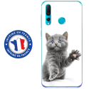 TPU0PSMART19CHATYEUXBLEU - Coque souple pour Huawei P Smart (2019) avec impression Motifs chat yeux bleus