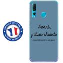 TPU0PSMART19CHIANTEBLEU - Coque souple pour Huawei P Smart (2019) avec impression Motifs Avant, j'étais chiante bleu