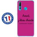 TPU0PSMART19CHIANTEFUSHIA - Coque souple pour Huawei P Smart (2019) avec impression Motifs Avant, j'étais chiante fushia