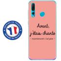 TPU0PSMART19CHIANTEROSE - Coque souple pour Huawei P Smart (2019) avec impression Motifs Avant, j'étais chiante rose