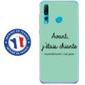 TPU0PSMART19CHIANTETURQUOISE - Coque souple pour Huawei P Smart (2019) avec impression Motifs Avant, j'étais chiante turquoise