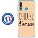 TPU0PSMART19CHIEUSEBEIGE - Coque souple pour Huawei P Smart (2019) avec impression Motifs Chieuse d'Amour beige