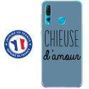 TPU0PSMART19CHIEUSEBLEU - Coque souple pour Huawei P Smart (2019) avec impression Motifs Chieuse d'Amour bleu