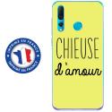 TPU0PSMART19CHIEUSEJAUNE - Coque souple pour Huawei P Smart (2019) avec impression Motifs Chieuse d'Amour jaune