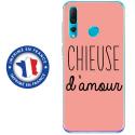 TPU0PSMART19CHIEUSEROSE - Coque souple pour Huawei P Smart (2019) avec impression Motifs Chieuse d'Amour rose