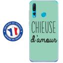 TPU0PSMART19CHIEUSETURQUOISE - Coque souple pour Huawei P Smart (2019) avec impression Motifs Chieuse d'Amour turquoise