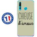 TPU0PSMART19CHIEUSEVERT - Coque souple pour Huawei P Smart (2019) avec impression Motifs Chieuse d'Amour vert