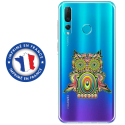 TPU0PSMART19CHOUETTE - Coque souple pour Huawei P Smart (2019) avec impression Motifs chouette psychédélique
