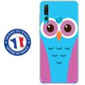 TPU0PSMART19CHOUETTE3 - Coque souple pour Huawei P Smart (2019) avec impression Motifs chouette bleue et rose