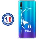 TPU0PSMART19CRANE - Coque souple pour Huawei P Smart (2019) avec impression Motifs crâne blanc