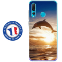TPU0PSMART19DAUPHIN - Coque souple pour Huawei P Smart (2019) avec impression Motifs dauphin