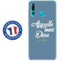 TPU0PSMART19DIEUBLEU - Coque souple pour Huawei P Smart (2019) avec impression Motifs Appelle moi Dieu bleu