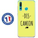TPU0PSMART19DISCAMIONJAUNE - Coque souple pour Huawei P Smart (2019) avec impression Motifs Dis Camion jaune