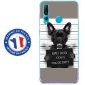 TPU0PSMART19DOGPRISONOS - Coque souple pour Huawei P Smart (2019) avec impression Motifs bulldog prisonnier os