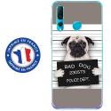 TPU0PSMART19DOGPRISONTRISTE - Coque souple pour Huawei P Smart (2019) avec impression Motifs bulldog prisonnier