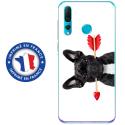TPU0PSMART19DOGVALENTIN - Coque souple pour Huawei P Smart (2019) avec impression Motifs bulldog valentin