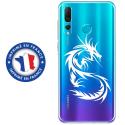 TPU0PSMART19DRAGONTRIBAL - Coque souple pour Huawei P Smart (2019) avec impression Motifs dragon tribal