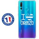 TPU0PSMART19DRAPBREIZH - Coque souple pour Huawei P Smart (2019) avec impression Motifs drapeau Breton I Love Breizh