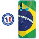 TPU0PSMART19DRAPBRESIL - Coque souple pour Huawei P Smart (2019) avec impression Motifs drapeau du Brésil