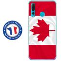 TPU0PSMART19DRAPCANADA - Coque souple pour Huawei P Smart (2019) avec impression Motifs drapeau du Canada