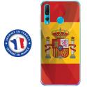 TPU0PSMART19DRAPESPAGNE - Coque souple pour Huawei P Smart (2019) avec impression Motifs drapeau de l'Espagne
