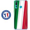 TPU0PSMART19DRAPITALIE - Coque souple pour Huawei P Smart (2019) avec impression Motifs drapeau de l'Italie