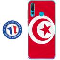TPU0PSMART19DRAPTUNISIE - Coque souple pour Huawei P Smart (2019) avec impression Motifs drapeau de la Tunisie
