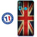 TPU0PSMART19DRAPUKVINTAGE - Coque souple pour Huawei P Smart (2019) avec impression Motifs drapeau UK vintage