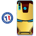 TPU0PSMART19IRONMASQUE - Coque souple pour Huawei P Smart (2019) avec impression Motifs masque Iron