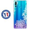TPU0PSMART19LACEBLANC - Coque souple pour Huawei P Smart (2019) avec impression Motifs Lace blanc