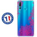 TPU0PSMART19LACEFUSHIA - Coque souple pour Huawei P Smart (2019) avec impression Motifs Lace fushia