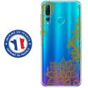 TPU0PSMART19LACEGOLD - Coque souple pour Huawei P Smart (2019) avec impression Motifs Lace gold