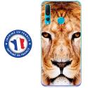 TPU0PSMART19LION - Coque souple pour Huawei P Smart (2019) avec impression Motifs tête de lion