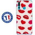 TPU0PSMART19LIPS - Coque souple pour Huawei P Smart (2019) avec impression Motifs lèvres et coeurs rouges
