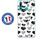 TPU0PSMART19LOVE1 - Coque souple pour Huawei P Smart (2019) avec impression Motifs Love coeur 1